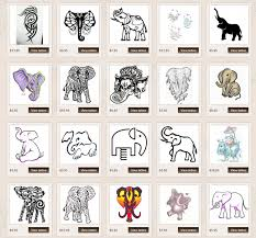 What Do Elephant Tattoos Elephant Line Card Feeling Crafty