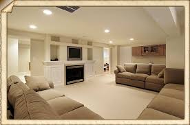 interior design luxury finished basement ideas with fireplace and