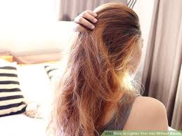 how to lighten dark brown hair to light brown how to lighten your hair without bleach 12 steps with pictures
