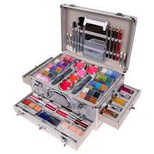 shany cosmetics carry all trunk professional makeup kit 4 layers