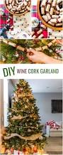 diy wine cork garland cambria winery