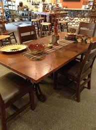Copper Dining Room Tables Copper Top Dining Room Tables Adwhole Tag