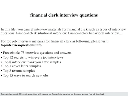 resume exles entry level accounting clerk interview answers financial clerk resume tomoney info