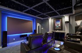 neon lighting for home home theater as addition to large modern interior small design ideas