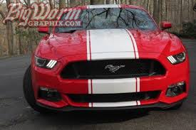 ford mustang gt white stripes 2015 17 mustang snake style stripes from big worm graphix