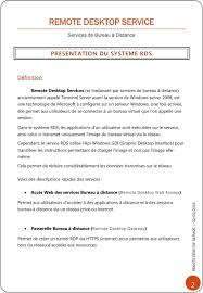 passerelle bureau à distance services de bureau à distance pdf