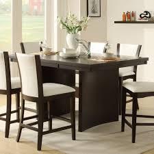counter dining room sets contemporary dining room design with dark espresso rectangular