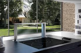 hotte aspirante verticale cuisine hotte escamotable sous plan de travail