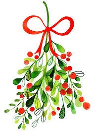 christmas mistletoe christmas tree illustration by margaret berg merry merry