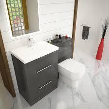 Bathroom Furniture Set Patello 1200 Bathroom Furniture Set Grey Buy At Bathroom City