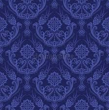 luxury blue floral damask wallpaper stock vector image 17699903
