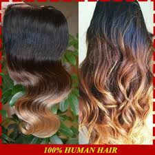 honey brown hair with blonde ombre honey blonde ombre lace closures virginy peruvian body wave humen