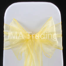 organza sashes lemon organza sashes bow 18cm