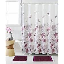 Gray And Purple Bathroom by Covina Purple Shower Curtain Walmart Com