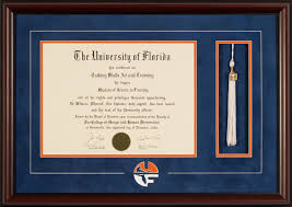 tassel frame of florida diploma frame with logo and tassel talking
