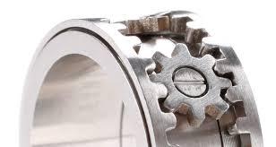 gear wedding ring design