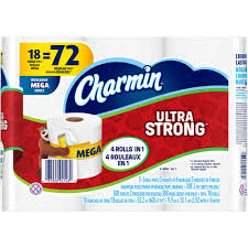 charmin ultra strong toilet paper mega rolls 308 sheets 18 rolls