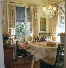 cottage style dining room decor curtains tables and chairs sets