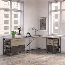 industrial desk l williston forge riverside industrial 3 piece l shaped desk office