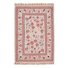 phlora beige pink u0026 green dhurrie rug mahout lifestyle