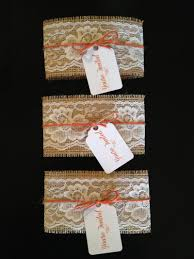 rustic burlap and lace wedding invitation belly by lexiesshop on