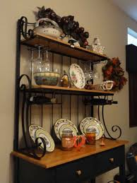 How To Decorate A Bakers Rack Ornate Bakers Rack With Decorations Bakers Rack For A Perfect