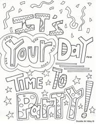 free birthday coloring pages celebrate quote