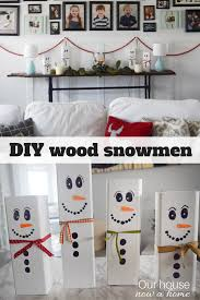 wooden snowman craft easy christmas decoration idea u2022 our house
