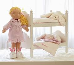 Doll Bunk Bed  Bedding Pottery Barn Kids - Dolls bunk bed