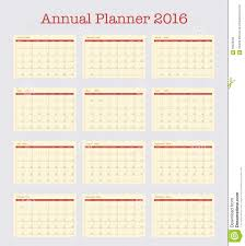 yearly planner template poster calendar for 2016 annual planner for year 2016 stock annual planner for year 2016 stock vector
