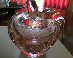Pink Glass Desk Vintage Pink Glass Etsy