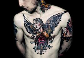 28 manly angel tattoos for men for 2013 creativefan
