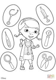 Doc Mcstuffins Tools Coloring Page Free Printable Coloring Tools Coloring Page
