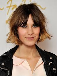 short hairstyles with center part and bangs 30 bangs hairstyles for short hair