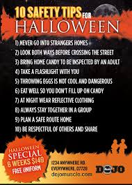 kick or treat safety tips halloween card 2b muscle