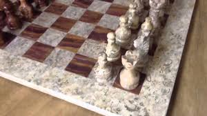 16x16 marble chess set youtube