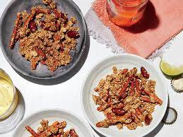 cooking light october 2017 spicy barely sweet supercrunch granola recipe eat your books