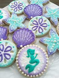 seashell shaped cookies 44 best iced cookies mermaids images on