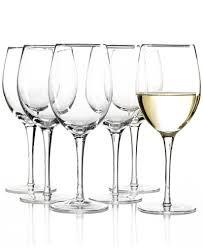 Wine Glasses Lenox Tuscany White Wine Glasses 6 Piece Value Set Macy U0027s