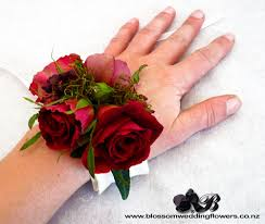 Red Rose Corsage Red Rose Berry Wrist Corsage Wrist Corsage Red Roses And Prom