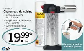 chalumeau pour cuisine lidl promotion chalumeau de cuisine ernesto brûleur crème brulée