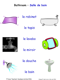 Bathroom Related Words Preschool French Resources House
