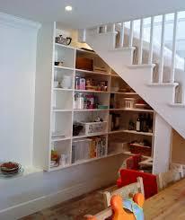 storage u0026 organization minimalist white stair shelves under