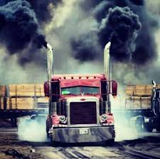diesel jeep rollin coal red peterbilt rollin coal and smokin tires real trucks