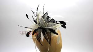 feather flower fusion feather sinamay flowers