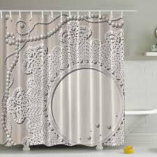 ambesonne pearls mirror lace print shower curtain u0026 reviews wayfair