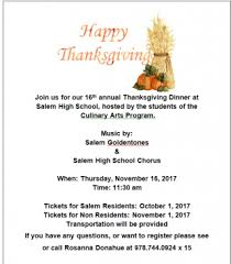 thanksgiving at the salem high school city of salem ma