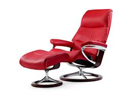 Red Leather Reclining Chair Stressless View Chair U0026 Ottoman Signature Base The Century