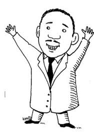 martin luther king raised one hand coloring pages mlk activities