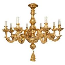 Wooden Chandelier Modern Pair Of Late 19th Century Italian Gilded Wooden Chandeliers With